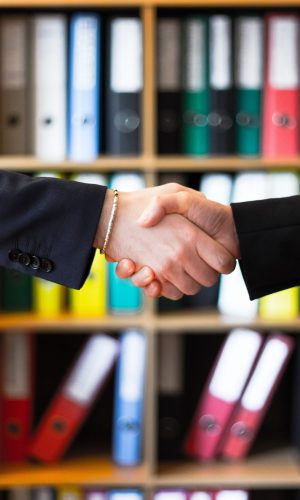 hand shaking on construction deal